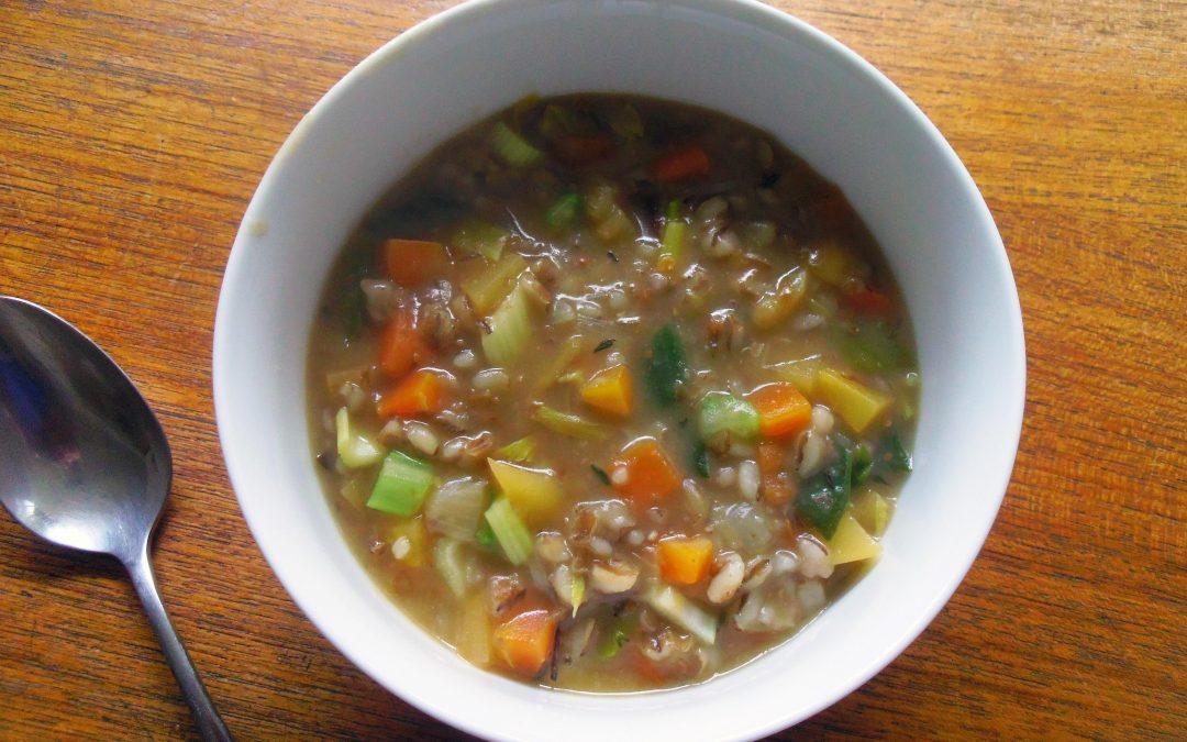 Springtime Barley and Vegetable Soup